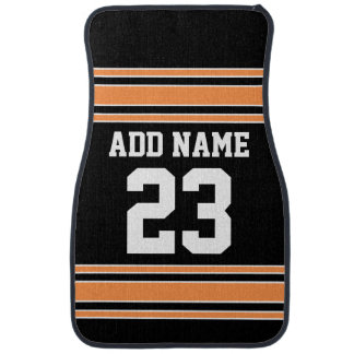 Team Jersey with Custom Name and Number Car Mat