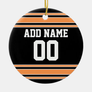Team Jersey with Custom Name and Number Christmas Ornament
