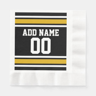 Team Jersey with Custom Name and Number Disposable Napkins