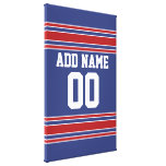 Team Jersey with Custom Name and Number Gallery Wrapped Canvas