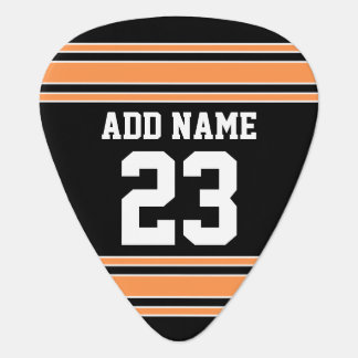 Team Jersey with Custom Name and Number Guitar Pick