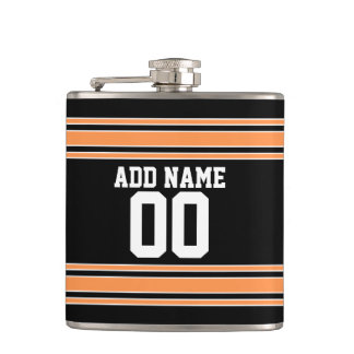 Team Jersey with Custom Name and Number Hip Flask