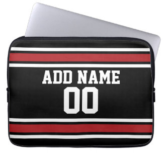Team Jersey with Custom Name and Number Laptop Sleeve