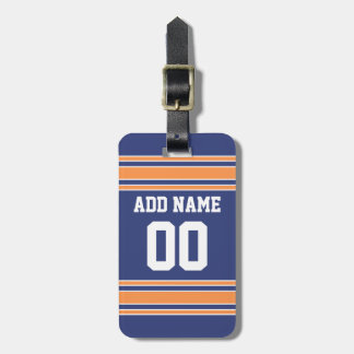 Team Jersey with Custom Name and Number Luggage Tag