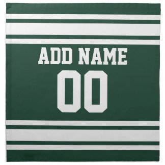 Team Jersey with Custom Name and Number Napkin