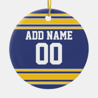 Team Jersey with Custom Name and Number Round Ceramic Decoration