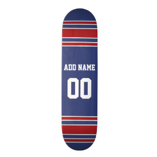 Team Jersey with Custom Name and Number Skate Board Decks