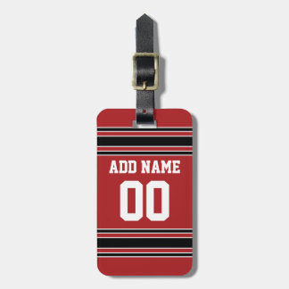 Team Jersey with Custom Name and Number Tags For Luggage