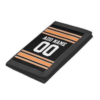 Team Jersey with Custom Name and Number Tri-fold Wallet
