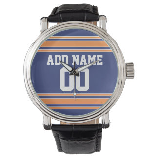 Team Jersey with Custom Name and Number Wristwatches