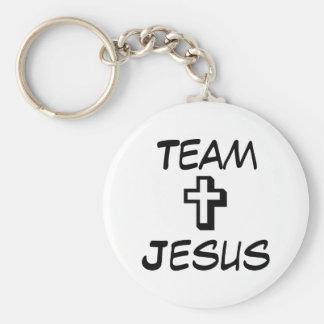Team Jesus Basic Round Button Key Ring