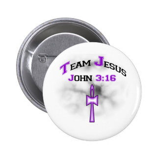 Team Jesus Christian John 316 6 Cm Round Badge