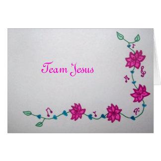 Team Jesus Note Card