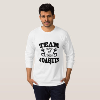 Team Joaquin: Steak Is Coming Men's Long Sl Tshirt