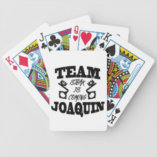 Team Joaquin: Steak Is Coming Playing Cards