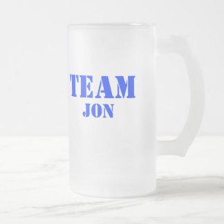 Team Jon Frosted Glass Mug