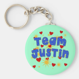 TEAM JUSTIN! T-shirts for Kids and Adults Key Ring