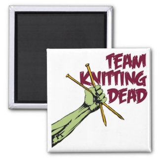 Team Knitting Dead Magnet
