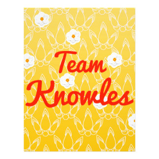Team Knowles Full Color Flyer