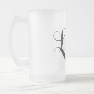 Team Lash Warriors Glass Frosted Glass Beer Mug