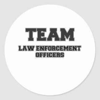 Team Law Enforcement Officers Round Stickers
