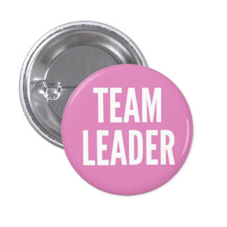 Team Leader 3 Cm Round Badge
