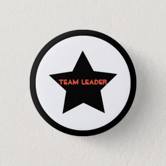 Team Leader Star Button Pin