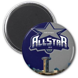 team logo 6 cm round magnet