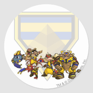 Team Lost Desert Group Round Sticker