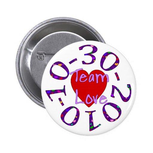 Team Love Pinback Button