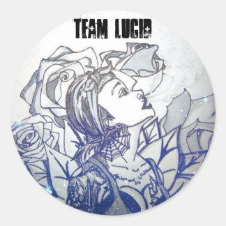 Team Lucid BLUE ROSE Round Sticker