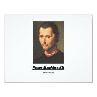 Team Machiavelli 11 Cm X 14 Cm Invitation Card