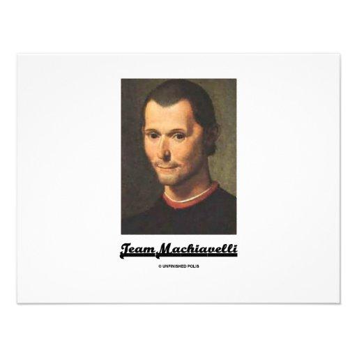 Team Machiavelli Personalized Invitation