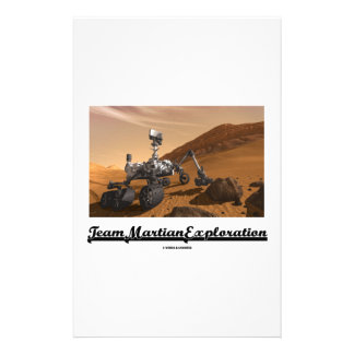 Team Martian Exploration (Curiosity Rover On Mars) Stationery Paper