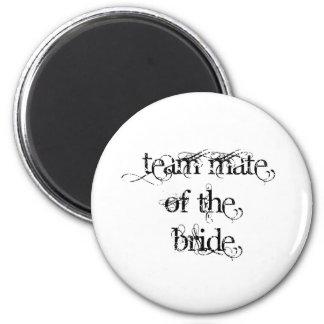 Team Mate of the Bride 6 Cm Round Magnet