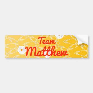 Team Matthew Bumper Sticker