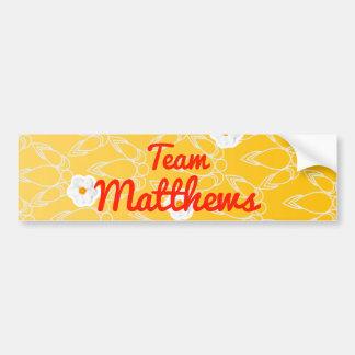Team Matthews Bumper Stickers