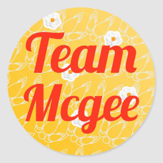 Team Mcgee Round Stickers