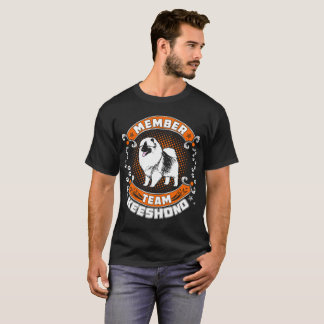 Team Member Keeshond Dog Pets Love Tshirt