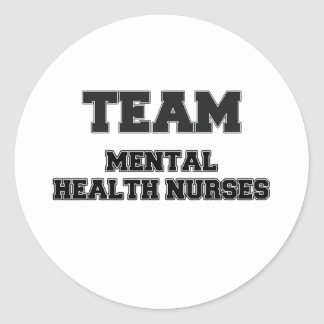 Team Mental Health Nurses Classic Round Sticker