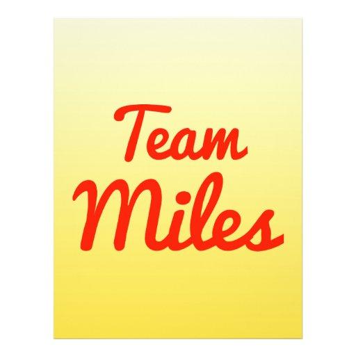 Team Miles Flyer Design