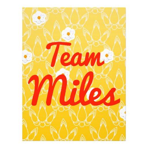 Team Miles Full Color Flyer