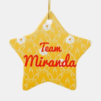 Team Miranda Ceramic Star Decoration