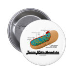 Team Mitochondria (Mitochondrion Humour) Buttons