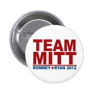 Team Mitt Romney Ryan 2012 6 Cm Round Badge