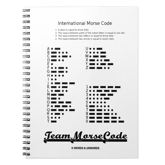 Team Morse Code (Communication Dots & Dashes) Notebooks