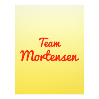 Team Mortensen 21.5 Cm X 28 Cm Flyer