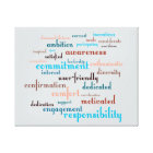 Team Motivation Word Cloud Customisable Background Canvas Print