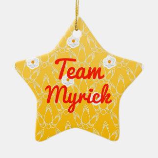 Team Myrick Ceramic Star Decoration