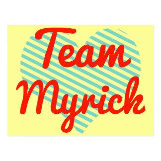 Team Myrick Postcard